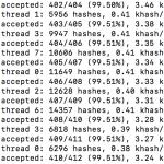複数のMacbook ProでBitzenyをマイニングしてみる−−ハッシュレートは?
